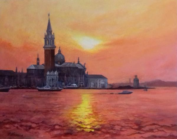 THE CHURCH OF SAN GEORGIO MAGGIORE. VENICE by Suzanne  Haimes