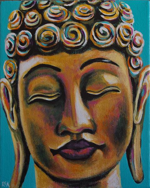 Golden Buddha #3 by Ruth Archer