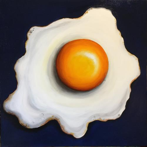 Big fried egg  by JANE PALMER
