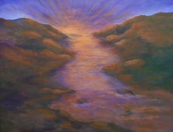 Sunrise over the River by Brenda Newton