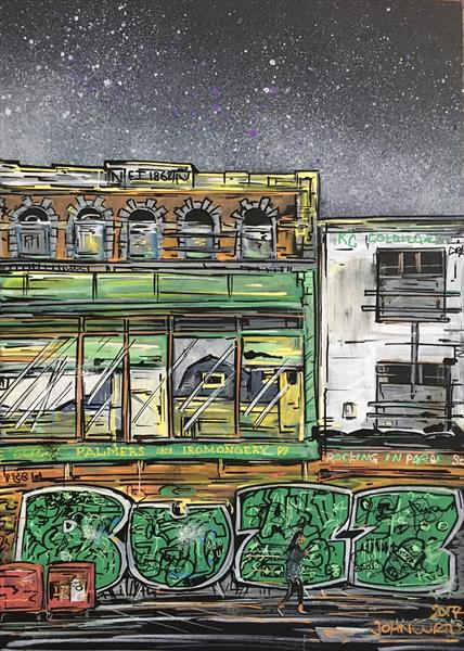 Abandoned building - Ironmongers in Stokes Croft by John Curtis
