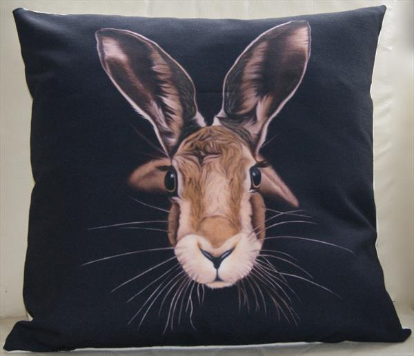 ' A Good Hare Day ' fine art cushion. by Steven Shaw