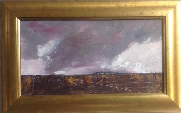 Listen to the wind - A Fenland Storm  ( framed original) by Sarah Gill