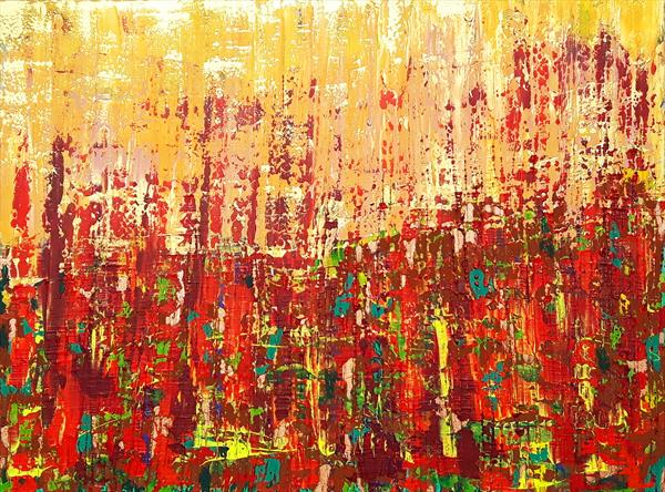 October sunshine - XL colorful abstract by Ivana Olbricht