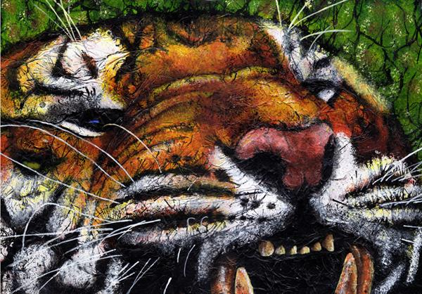 Snarling Tiger by Guy Wooles