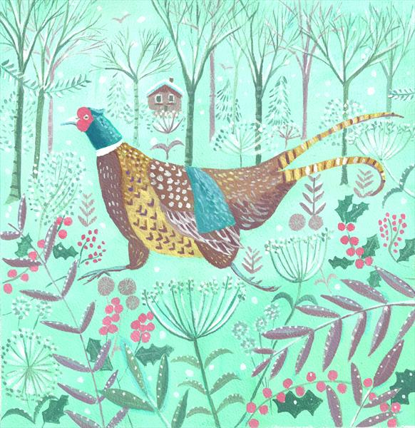 Winter Pheasant by Mary Stubberfield