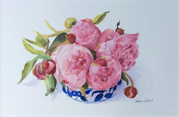 PEONIES BUDS by Beatrice Cloake