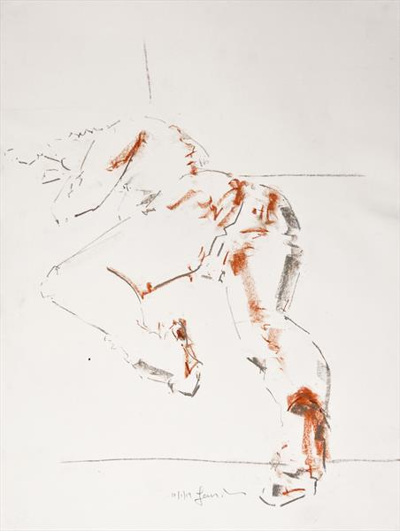 Nude Study of the Female Figure - Life Drawing No 399 by Ian Mckay