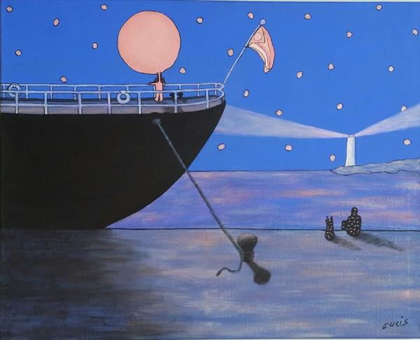 The sailor's starry night by mario curis