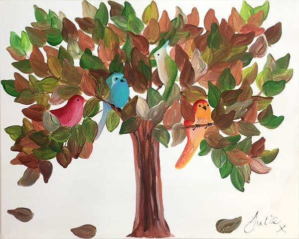 Bird Tree by Julie Anne