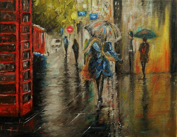 Rainy Day in London by James Odubote