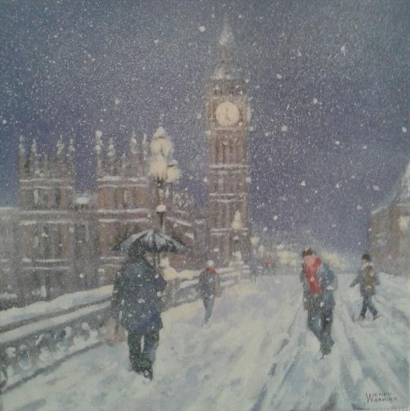 Snow near Big Ben