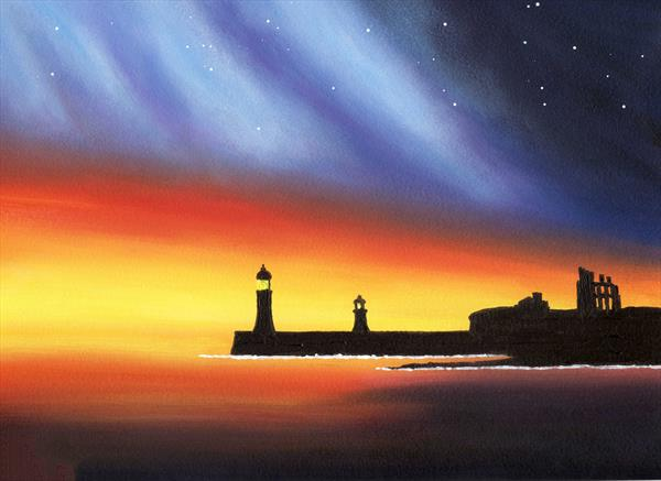 Tynemouth Lights by Paul Oughton