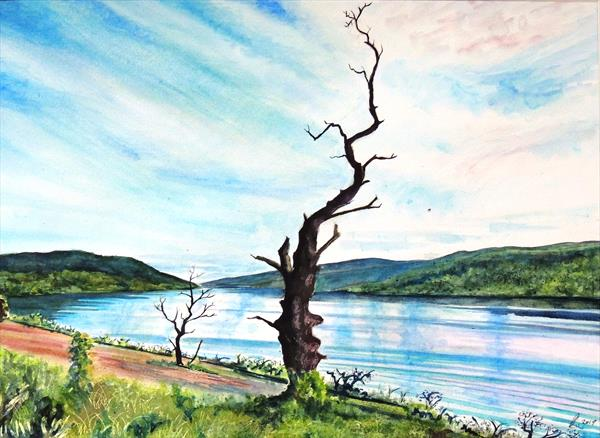 Overlooking Loch Tay east to Kenmore from Breadalbane by Elizabeth Sadler
