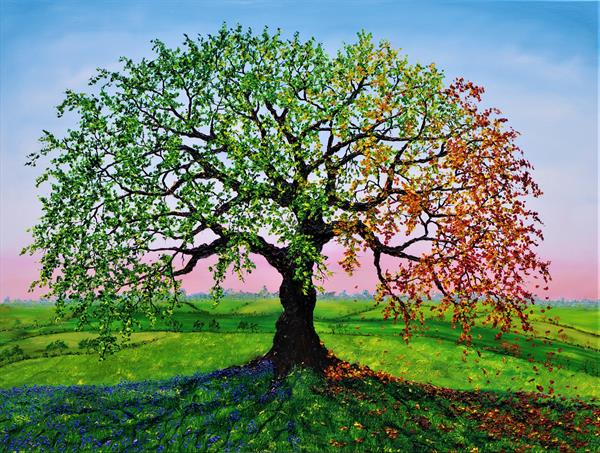 Oak Of Summer And Autumn by Hazel Thomson