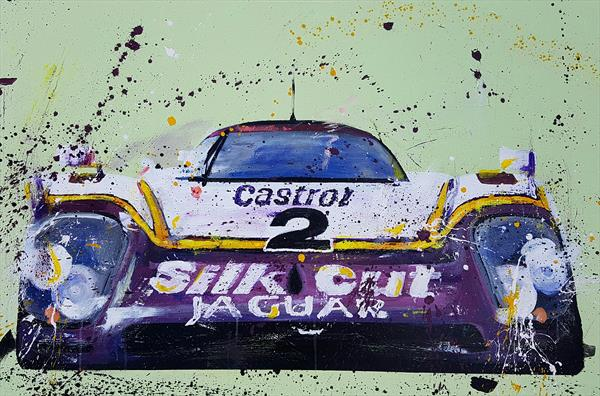 Le Mans Silk Cut Jaguar by Sean Wales