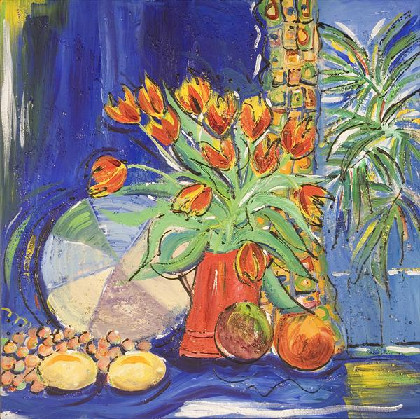 Tulips and Lemons by Diana Aungier - Rose