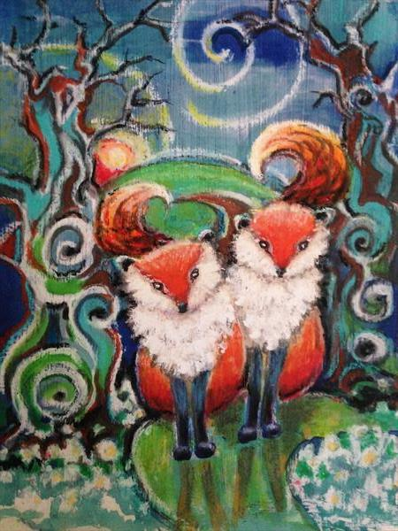 Foxy Forest Fantasy  by Theresa  Robinson