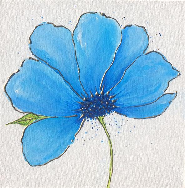 Blue Flower by Tracy Jolly