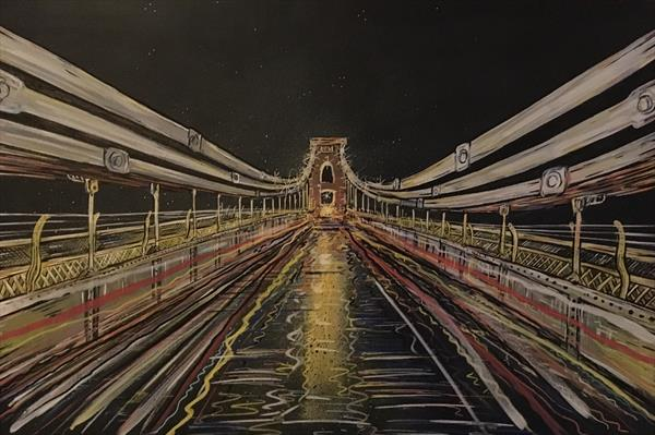 Clifton Suspension Bridge - Abstract Limited Edition Print by John Curtis