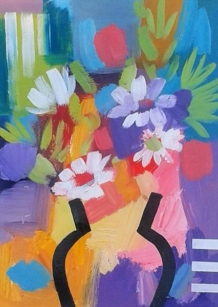 Abstract Floral IV by Jan Rippingham