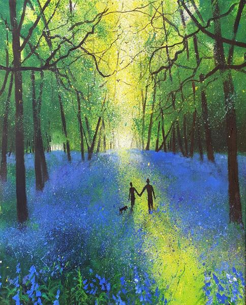 First bluebell Walk of Spring by Teresa Tanner