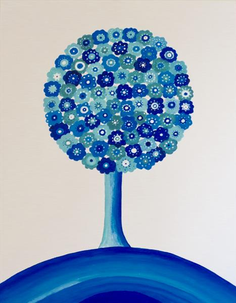 Blue Flower Tree
