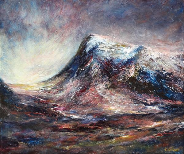 Elevation of Glencoe (on display at Art Gallery Tetbury) by Kasia Kaldowski