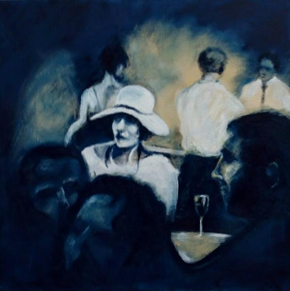 A Sancerre while she waits by daryl tipping