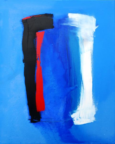 Abstraction of Blue 3 by Mark Fearn