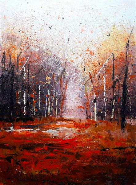Autumn treescape by Teresa Tanner