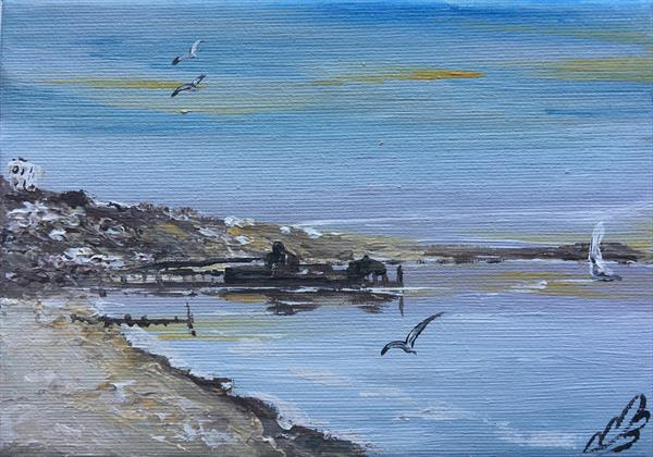 Bournemouth pier on a mini canvas by Marja Brown