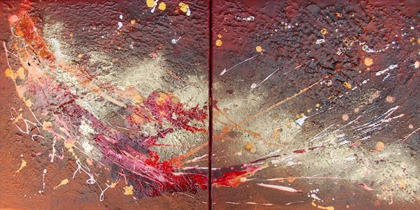 Eclipse (diptych) by Rachel Mccullock
