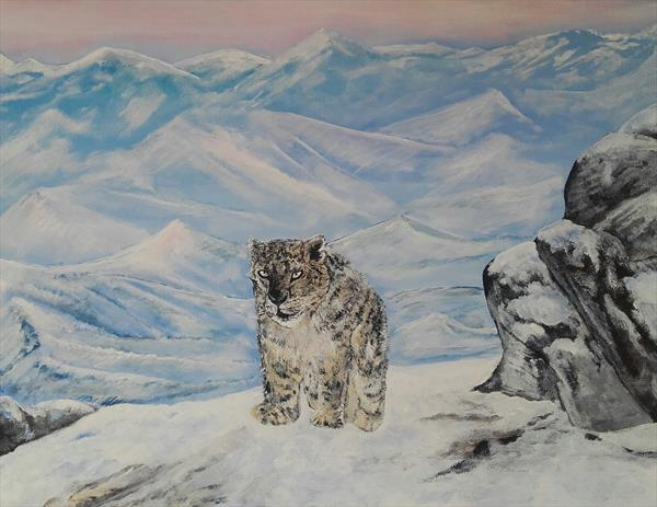 Snow Leopard by John Dallimore
