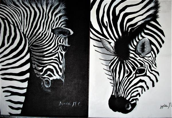 A DUO IN BLACK AND WHITE by Lynda Cockshott