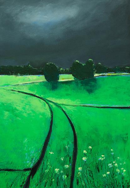 THE GREENS AND THE STORM - FIELDS AND COLORS SERIES by Danijela  Dan