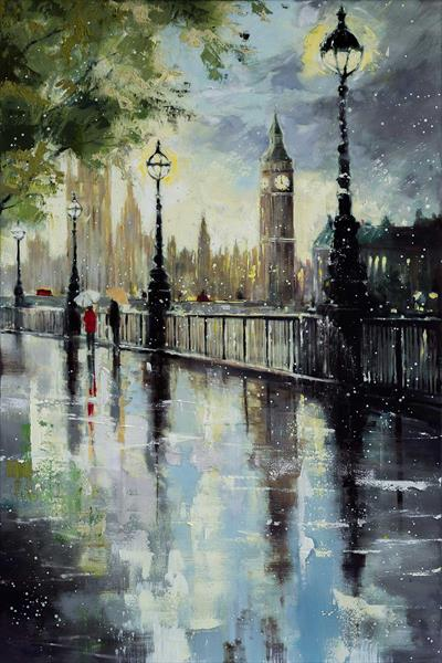 'Early Spring at Westminster' by Eva Czarniecka