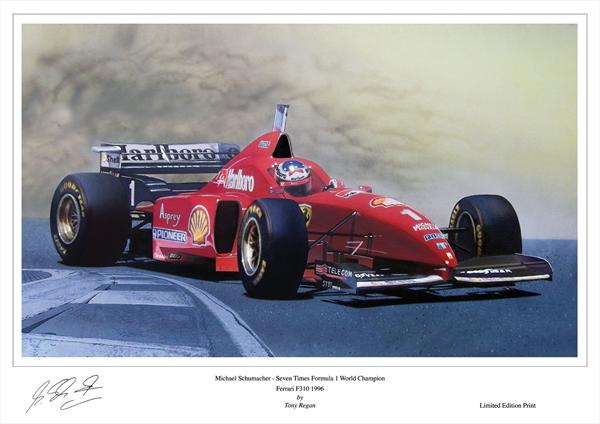 Michael Schumacher Ferrari 310 F1 Car 1996 by Tony Regan