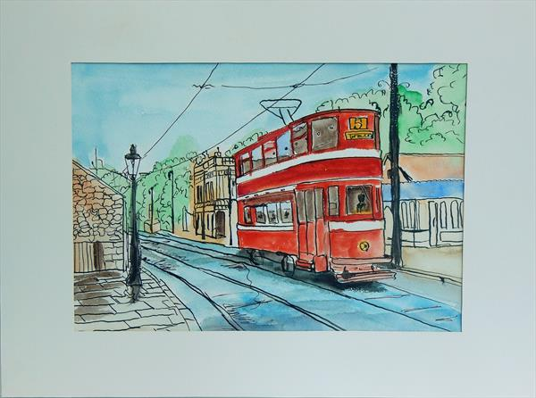 London tram. Mounted and ready to hang. by Vita Schagen