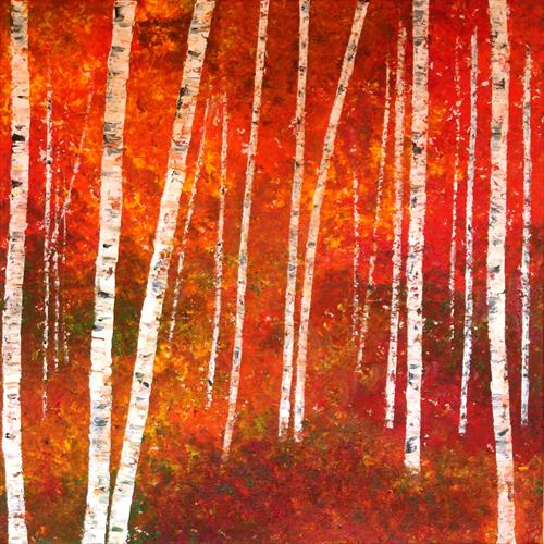 Autumnal Silver Birch 4 - SALE