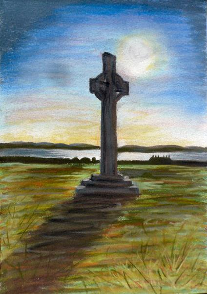 Iona Celtic Cross by Wendy McIlroy