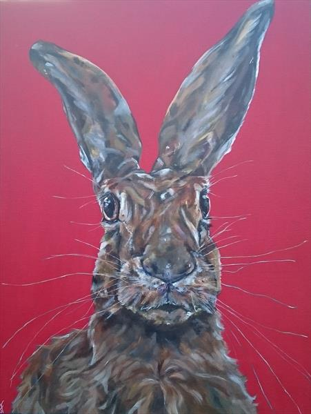 Bad Hare Day (on display at The Art Gallery, Tetbury)