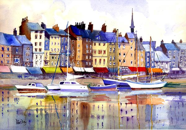 Honfleur, France by Peter Day