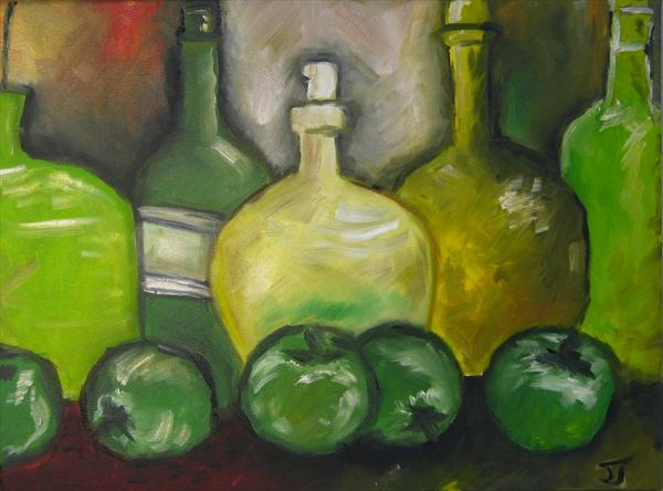 5 Bottles of Cider Sitting On the Wall by Janice Jung