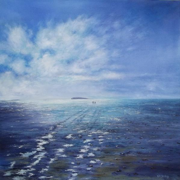 Walking Over To Hilbre Island;afternoon by Gill Stokes