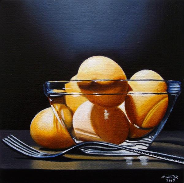 Still life with egg bowl