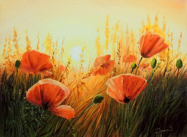 Flaming Meadow by Diana Janson