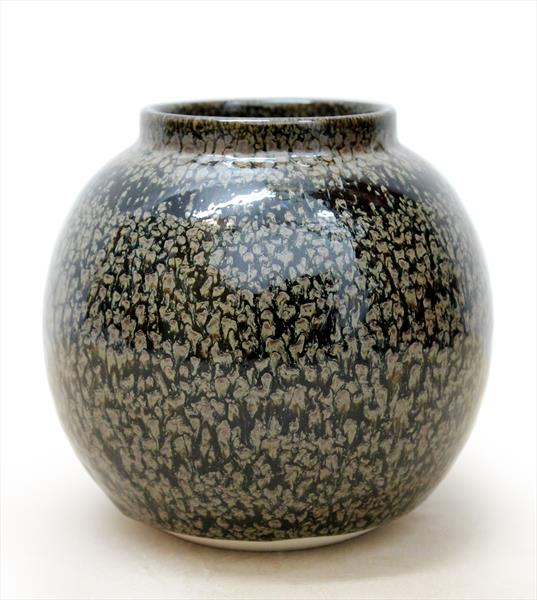 Vase with Red Oil Spot Glaze by Albert Montserrat