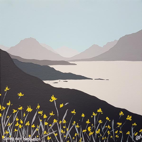 Spring over Wastwater, The Lake District by Sam Martin
