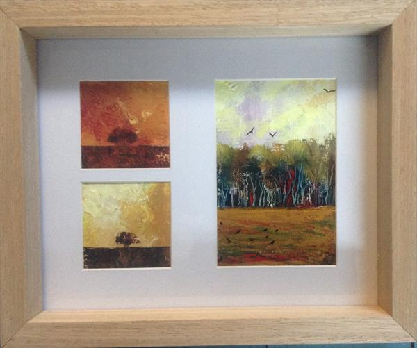 Dusk over The Wildwood ( framed triptych)